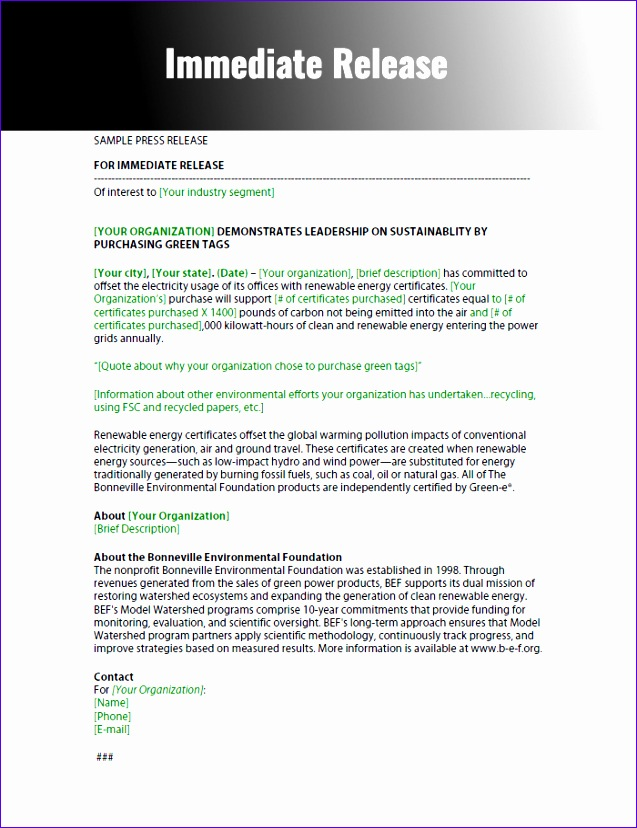 press release template 637828