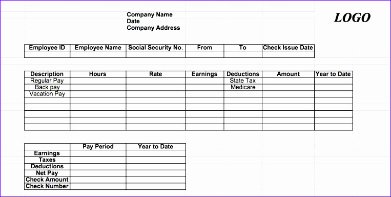 7 excel paycheck template exceltemplates exceltemplates for Free payroll check stub template download