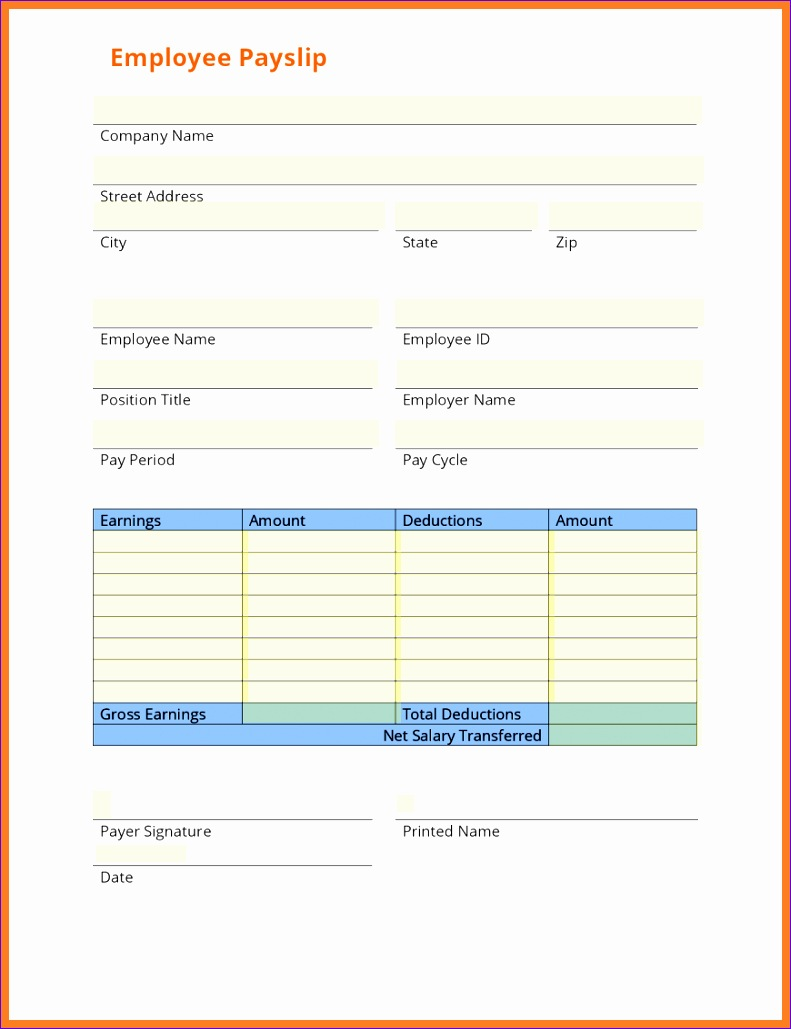 6 free salary payslip template 7911029