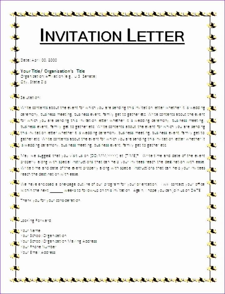8 invitation letter format 720942