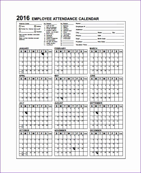 6 excel perpetual calendar template