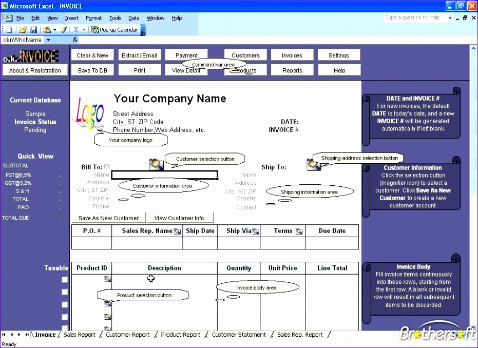 excel invoice manager 931678
