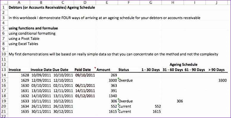 debtors accounts receivable ageing schedule video 775397
