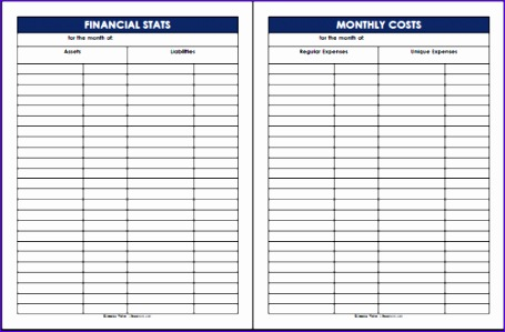 keep track of financial stats and monthly costs 455299