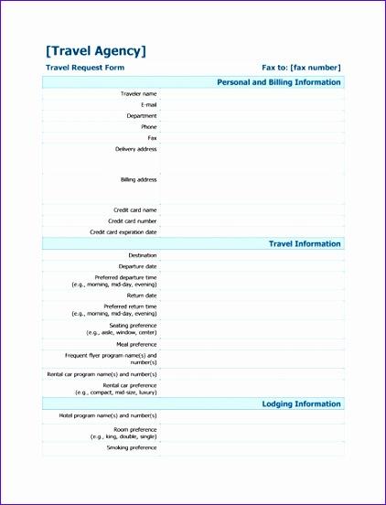 Travel information form TM 422552