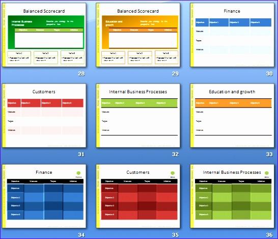 balanced scorecard presentation templates 546469