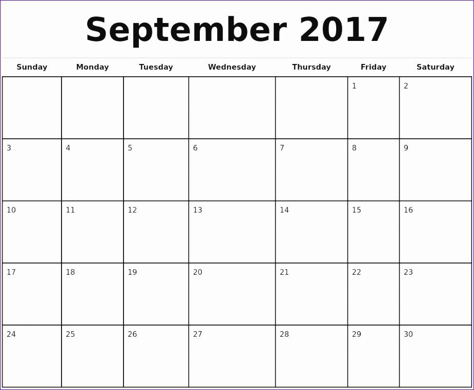 2017 monthly calendar template 3494 925762