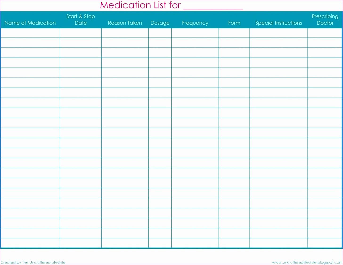 printable medication list 14561128