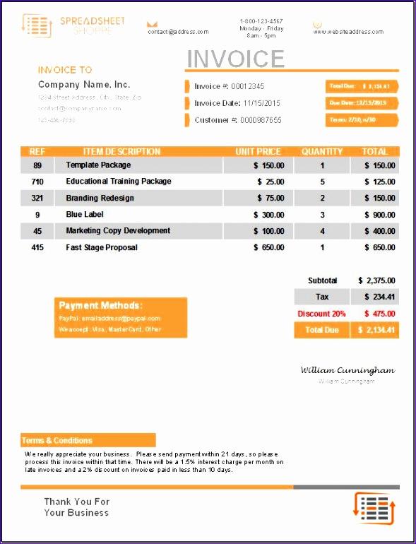 premium invoice template everest