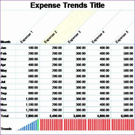 small business monthly expense report template 1273