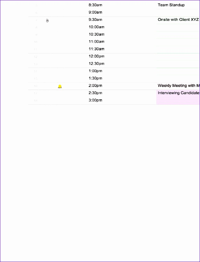 4 excel daily schedule template 664868