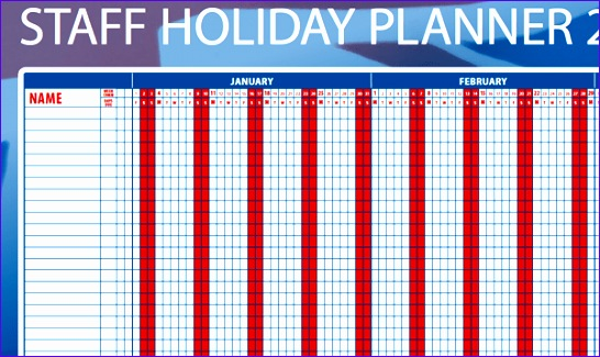 holiday planner template 546325