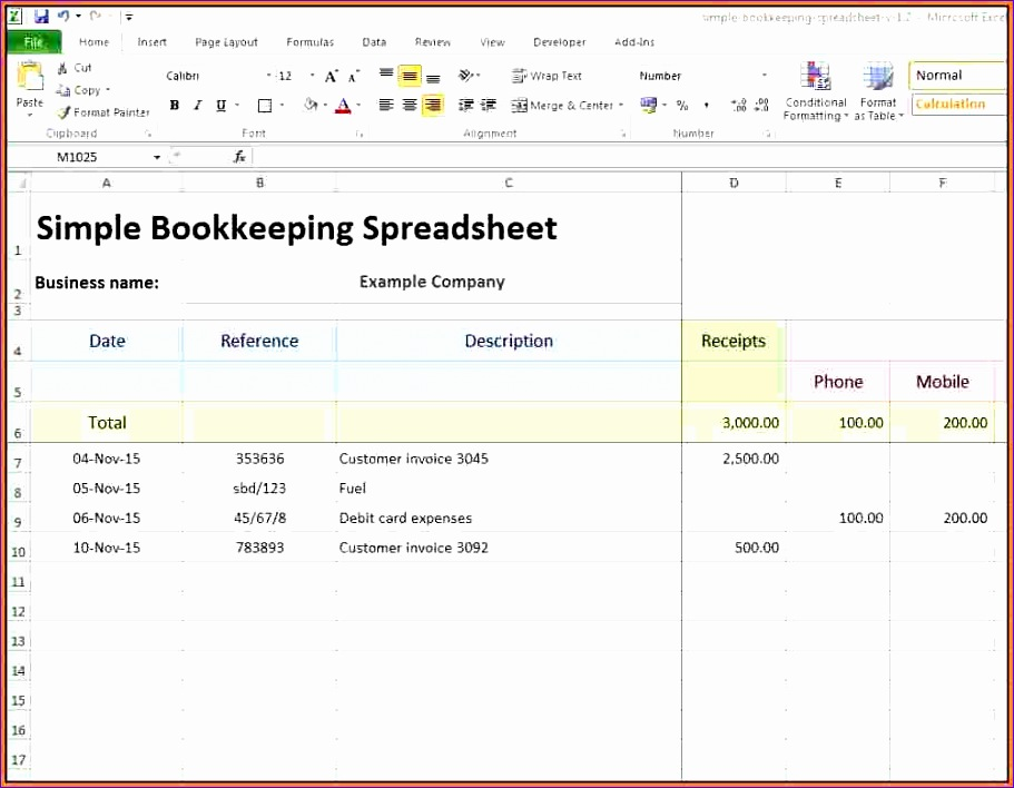 10 small business spreadsheet 911708