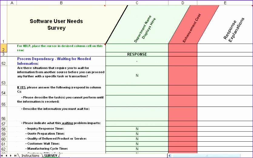 Excel Questionnaire Template Ochkq New Erp Requirements Collection - Erp requirements template