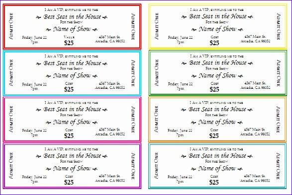 free event ticket templates for print 587393
