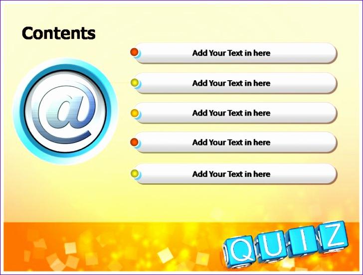 quiz template powerpoint 728552