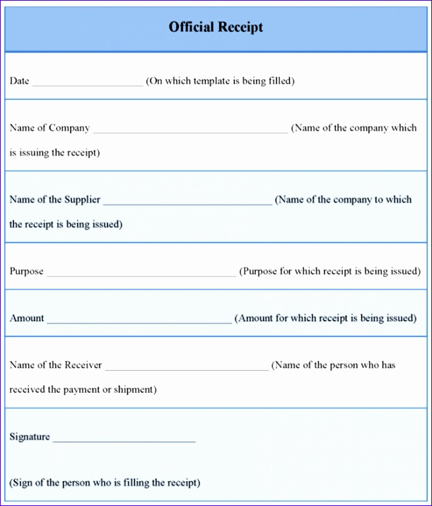 free receipt templates word excel formats editable invoice 611715