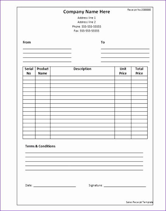 9 excel receipt template - exceltemplates