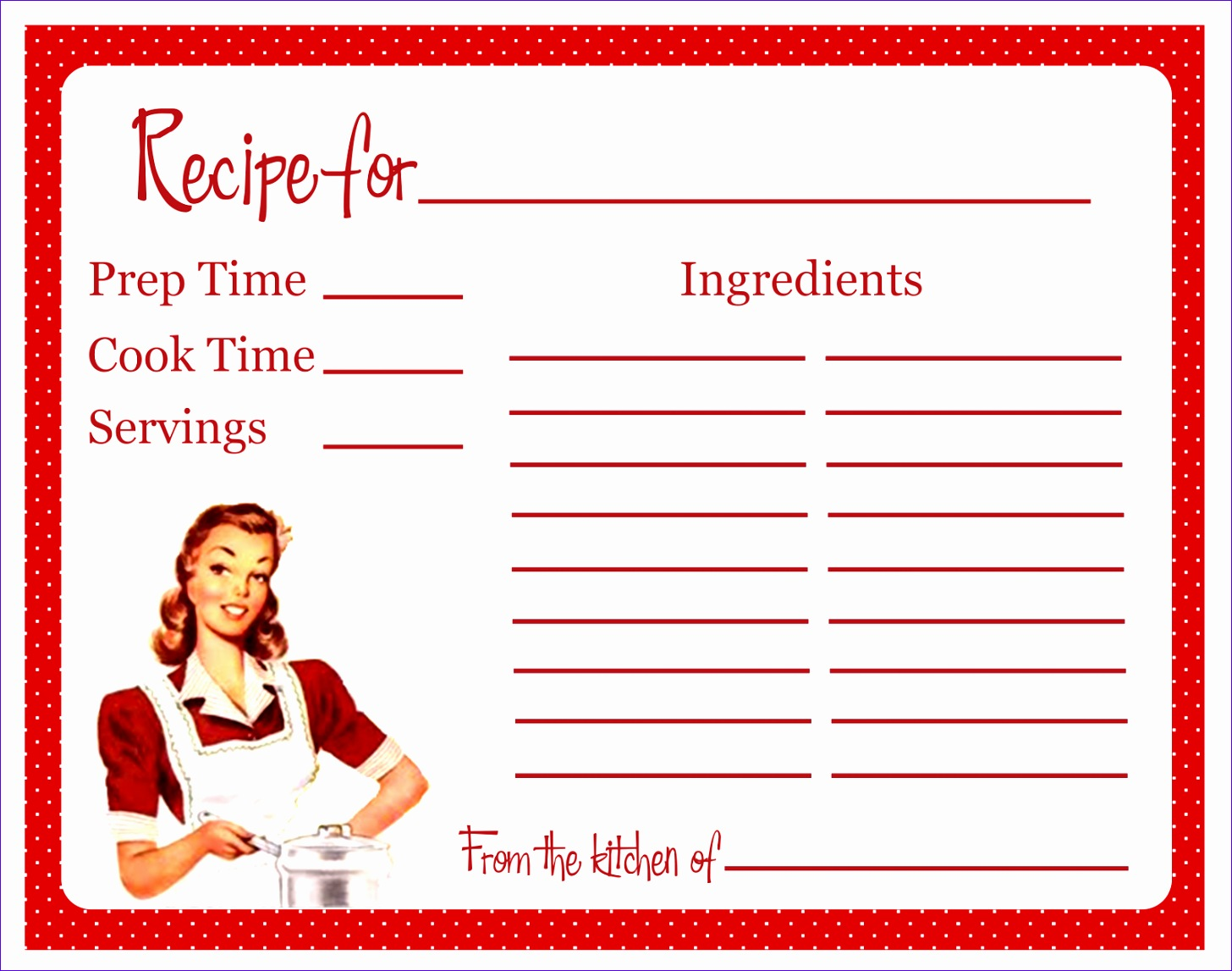 retro themed bridal shower recipe cards 14561147