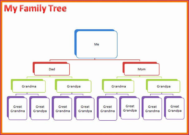 7 family tree word template 606434