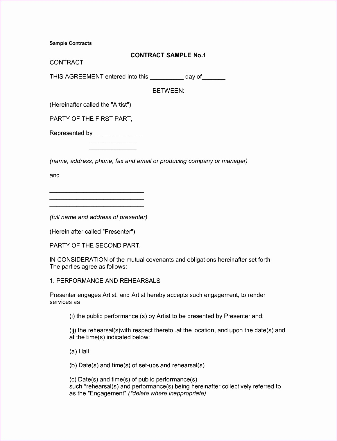 simple contract template 11601518