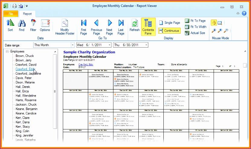 8 monthly employee schedule template 831495