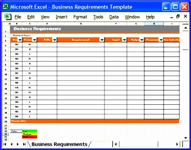 10 excel requirements template exceltemplates