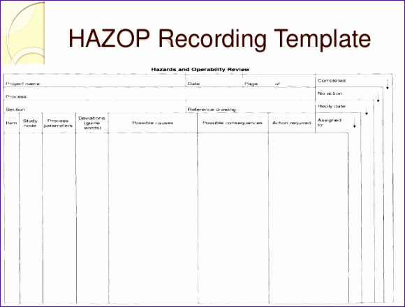 11 excel risk assessment template exceltemplates for Hazop template xls