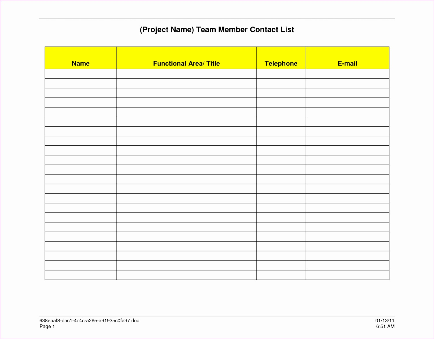 printable phone list template 15011173