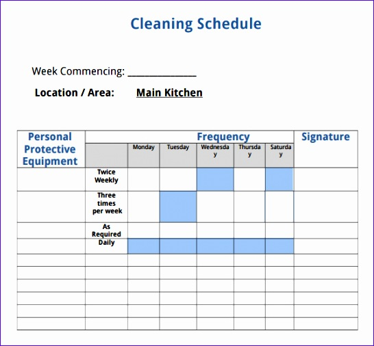house cleaning checklist template 546506