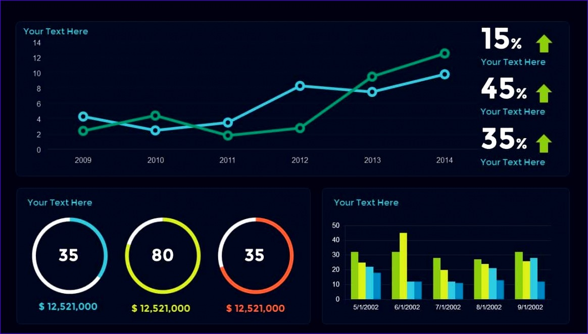 sales dashboard powerpoint and keynote template 1164662