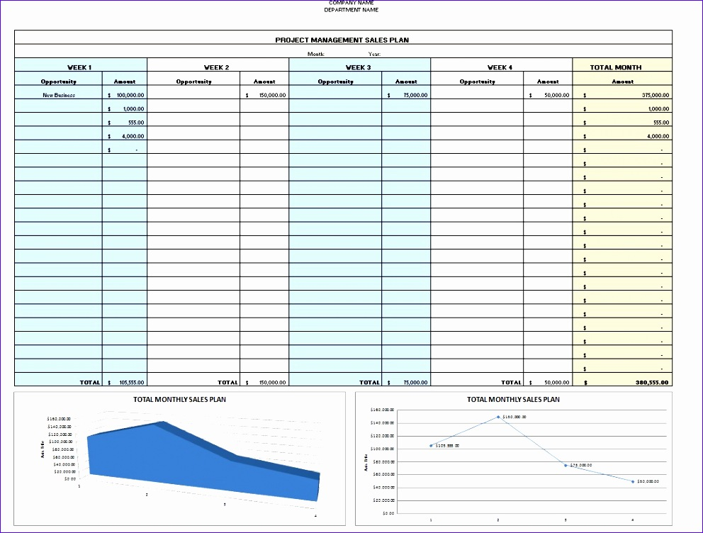 sales plan template excel 992752