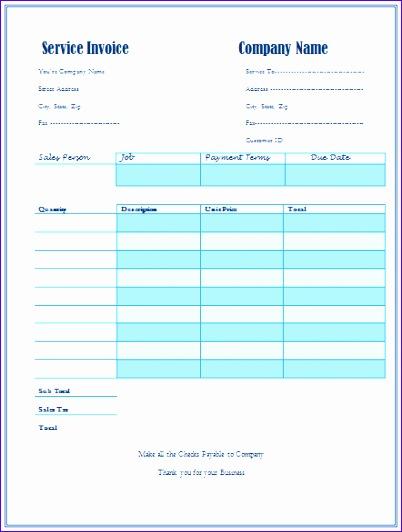 service invoice template 402532