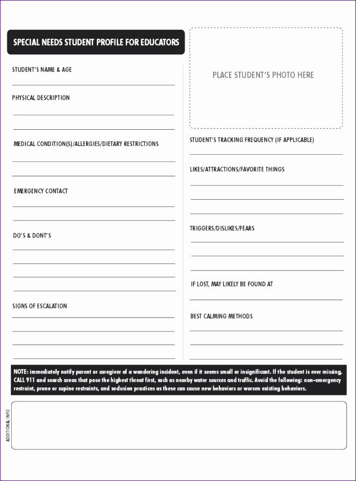 student profile form 698942