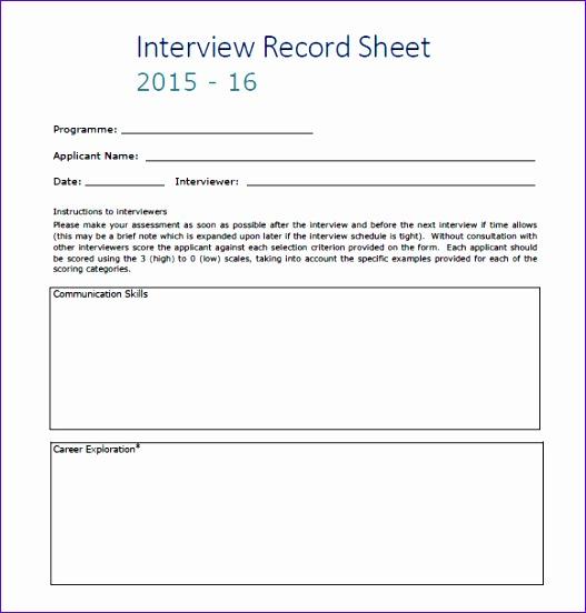 interview score sheet template 527552