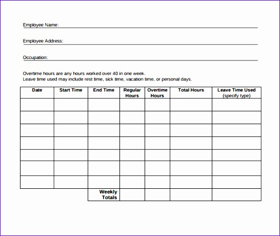 sample time tracking template 546460