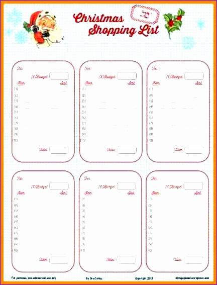 8 christmas food shopping list template 432567