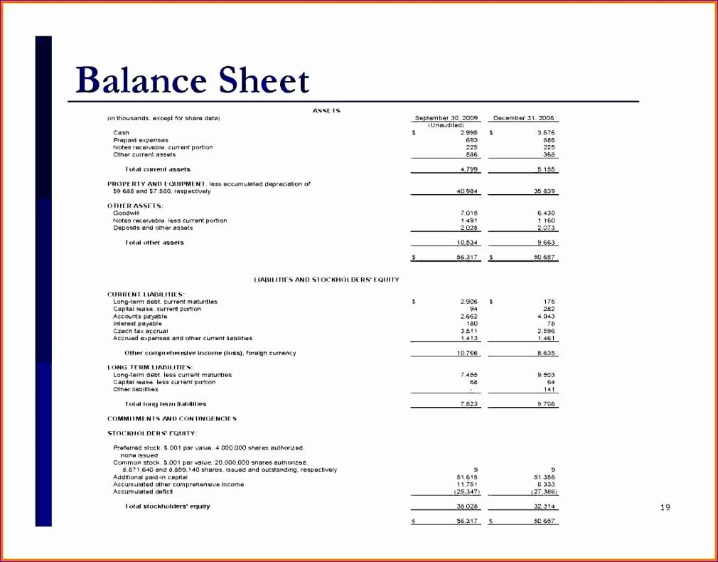 simple balance sheet 1010790