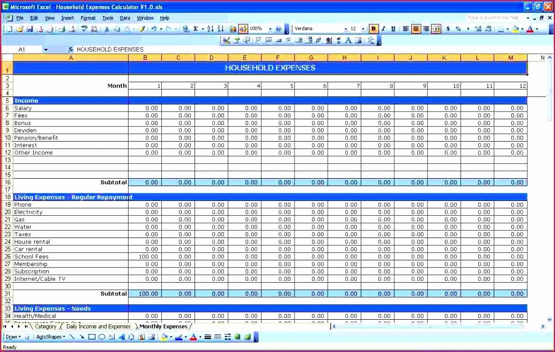 excel spreadsheet for bills 1170741
