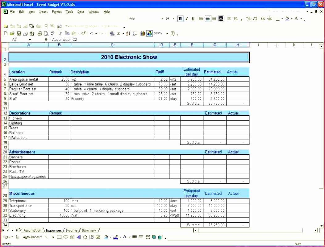 event bud worksheet 1053800