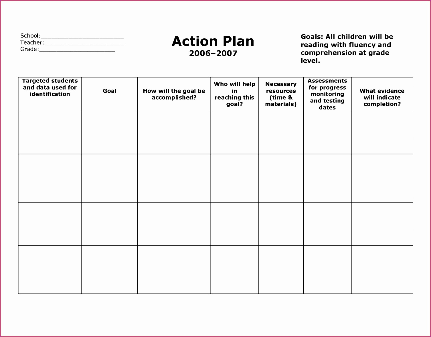 6 sample action plan template 15061178