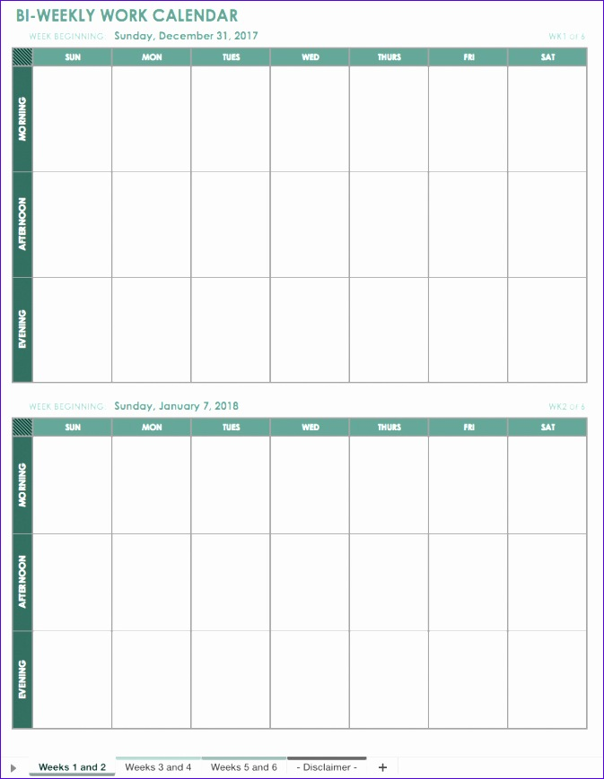 free excel calendar templates 673869