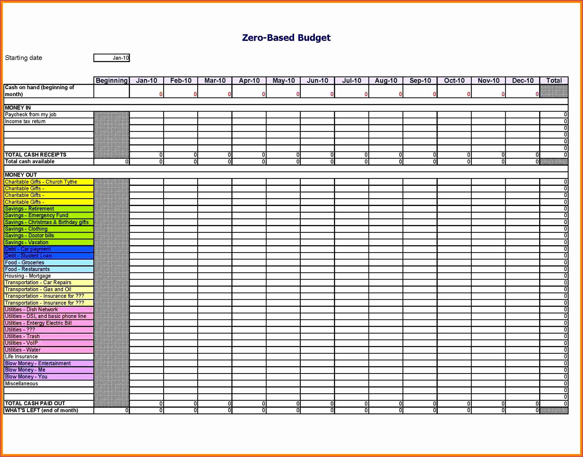 church bud spreadsheet excel template 20221584