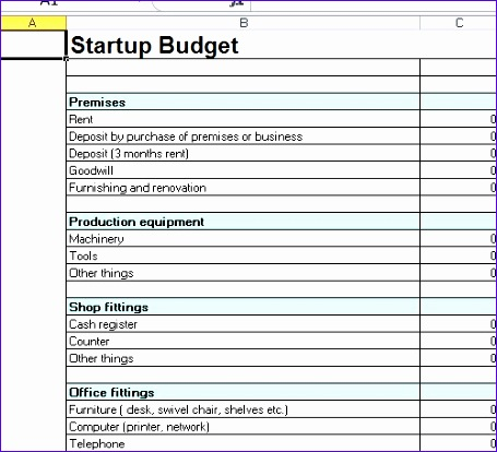 startup bud template excel 455414