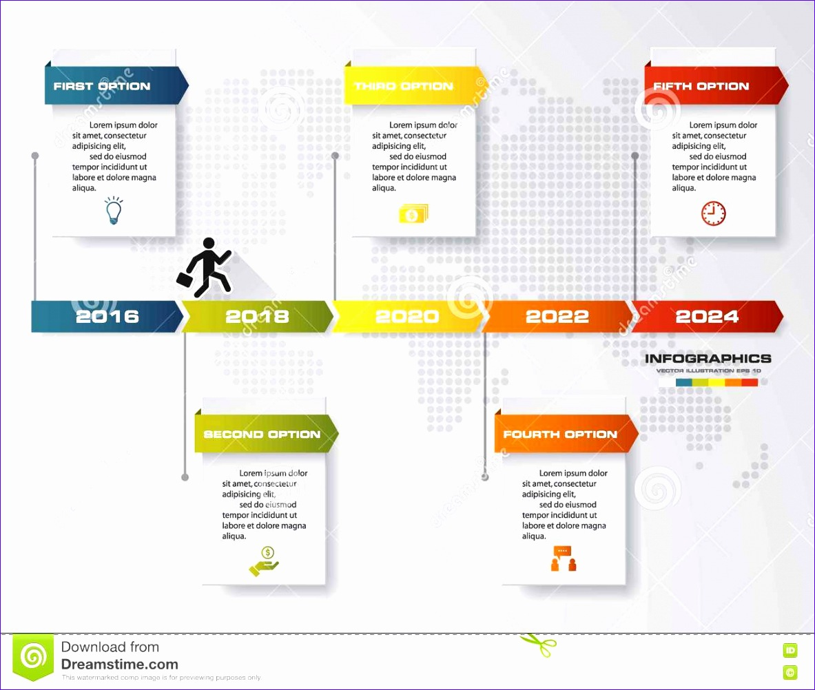 stock illustration timeline infographic steps vector design template can be used workflow processes banner diagram number options work image 11831002