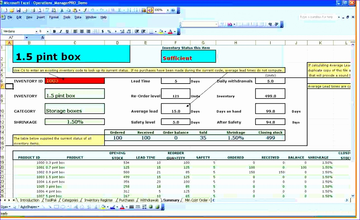 excel inventory tracking template 2 1172719