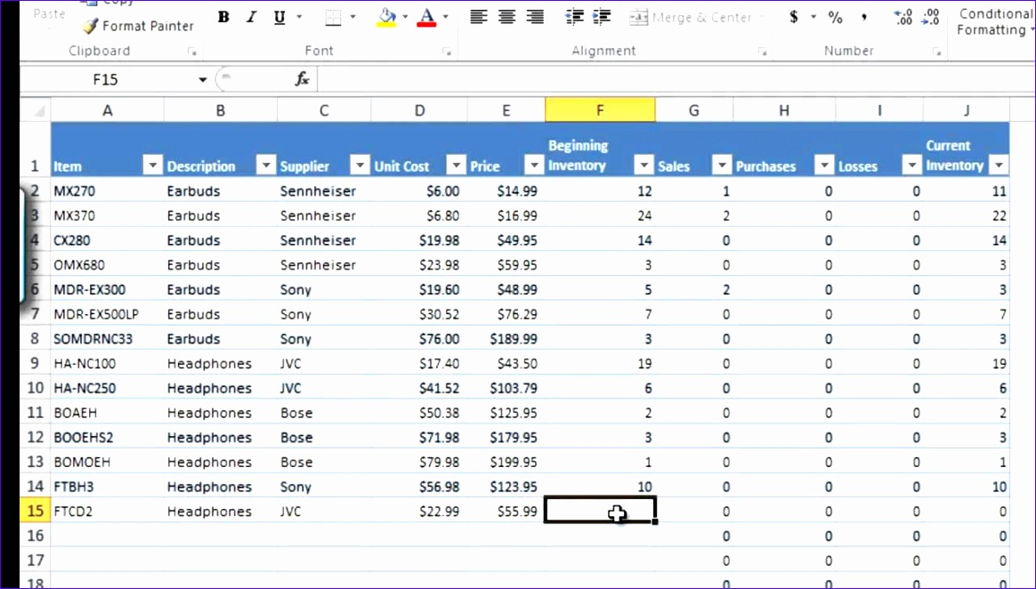 how to manage inventory with excel 3 1164662