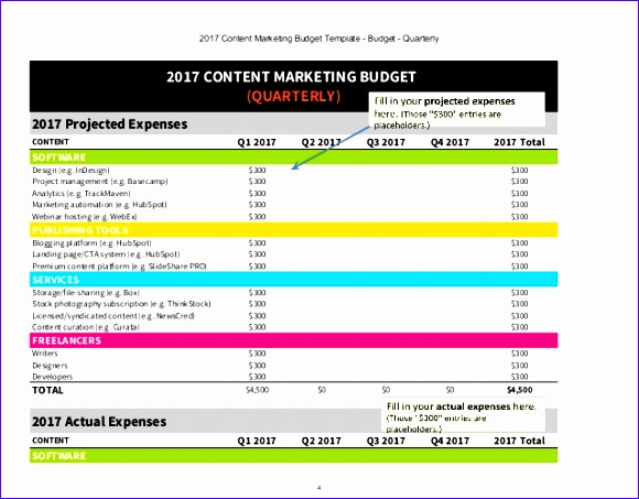 2017 content marketing bud excel template 580453