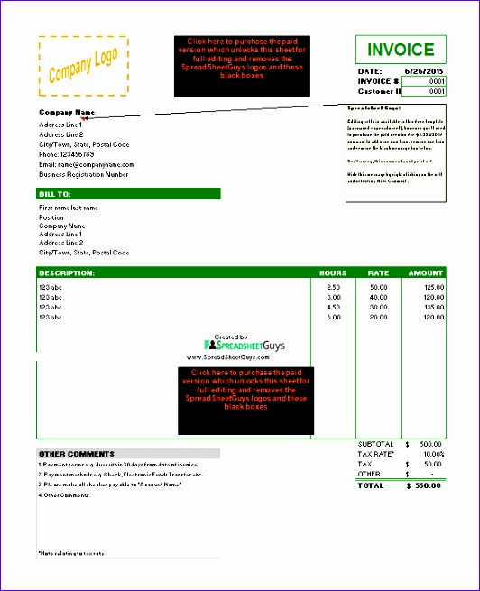 microsoft invoice template 532655
