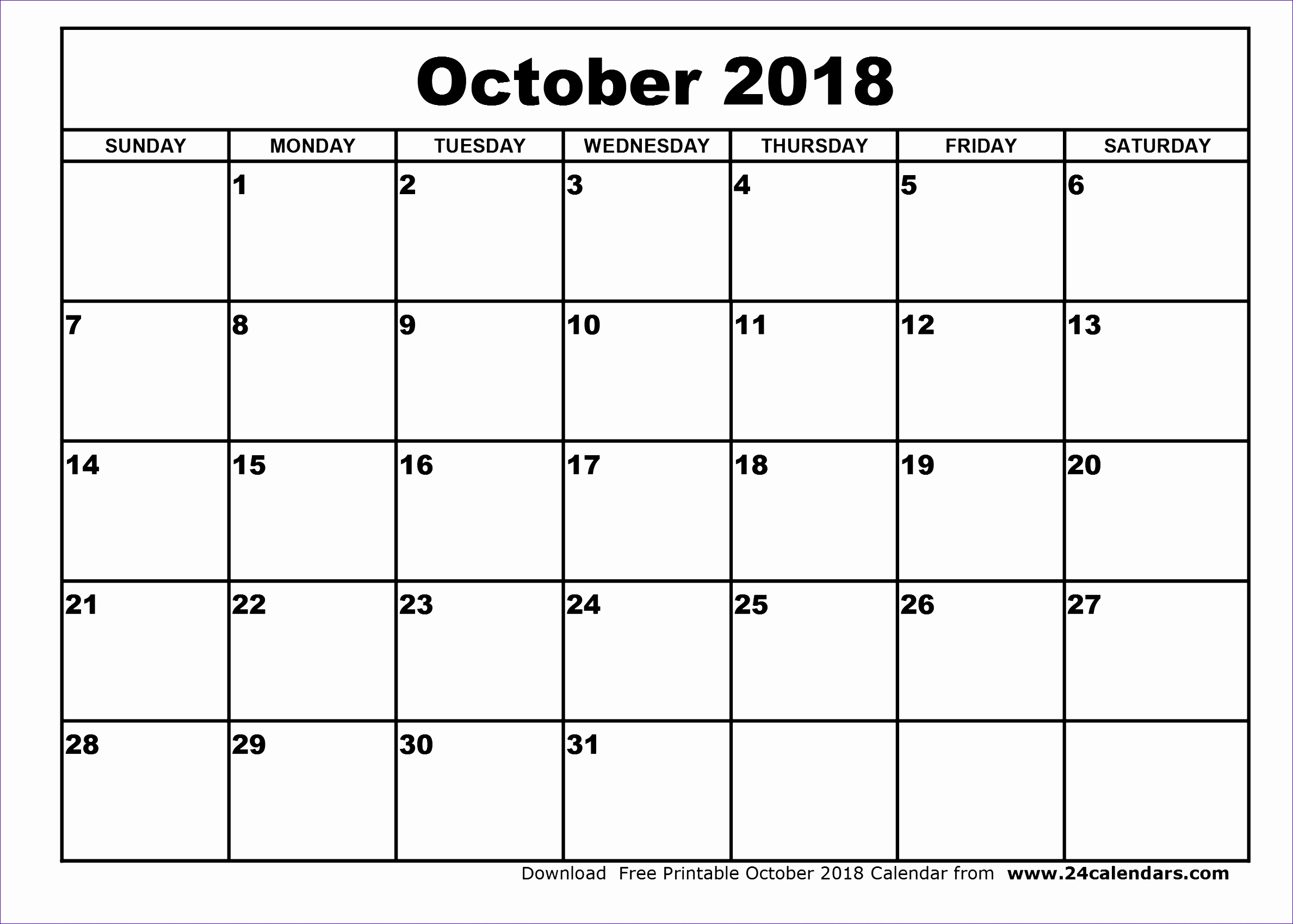 october 2018 calendar 375 23771699